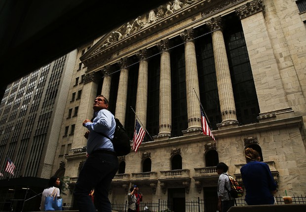 New York Stock Exchange (NYSE), a Bolsa de Valores de Nova York ; economia dos EUA ; (Foto: Spencer Platt/Getty Images)