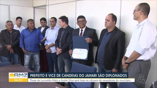Novo prefeito e vice de Candeias do Jamari são diplomados, em RO