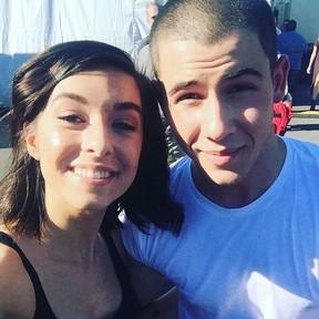 Nick Jonas e a cantora Christina Grimmie (Foto: Instagram/ Reprodução)