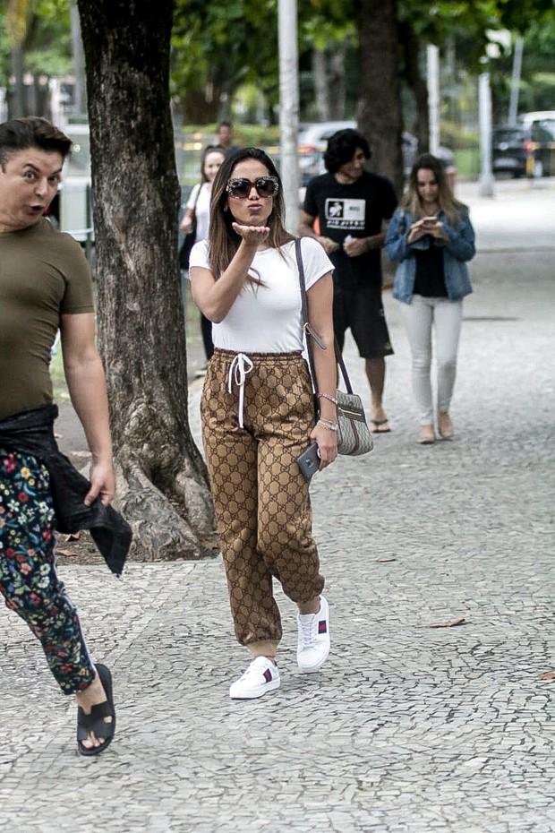 Anitta e David Brazil (Foto: Francisco Silva/AgNews)
