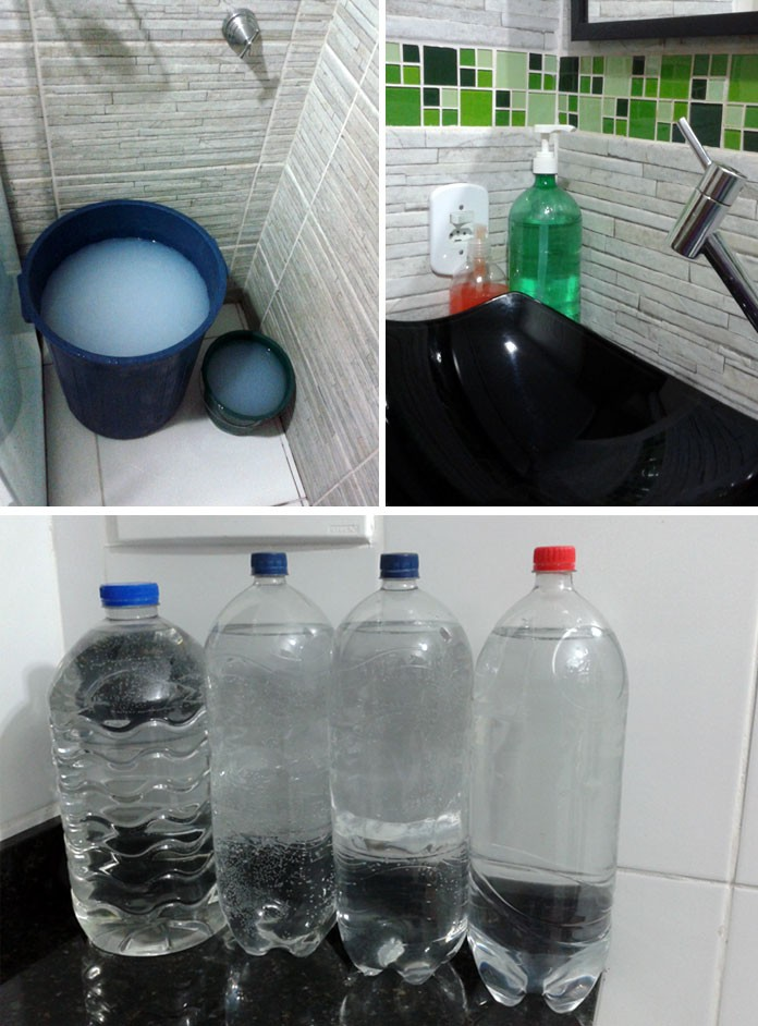 Família de Suzano (SP) usa medidas alternativas para economizar água no apartamento