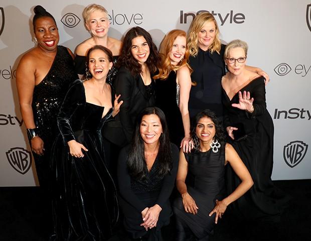 O movimento Time's Up foi o destaque do Globo de Ouro (Foto: Getty Images)