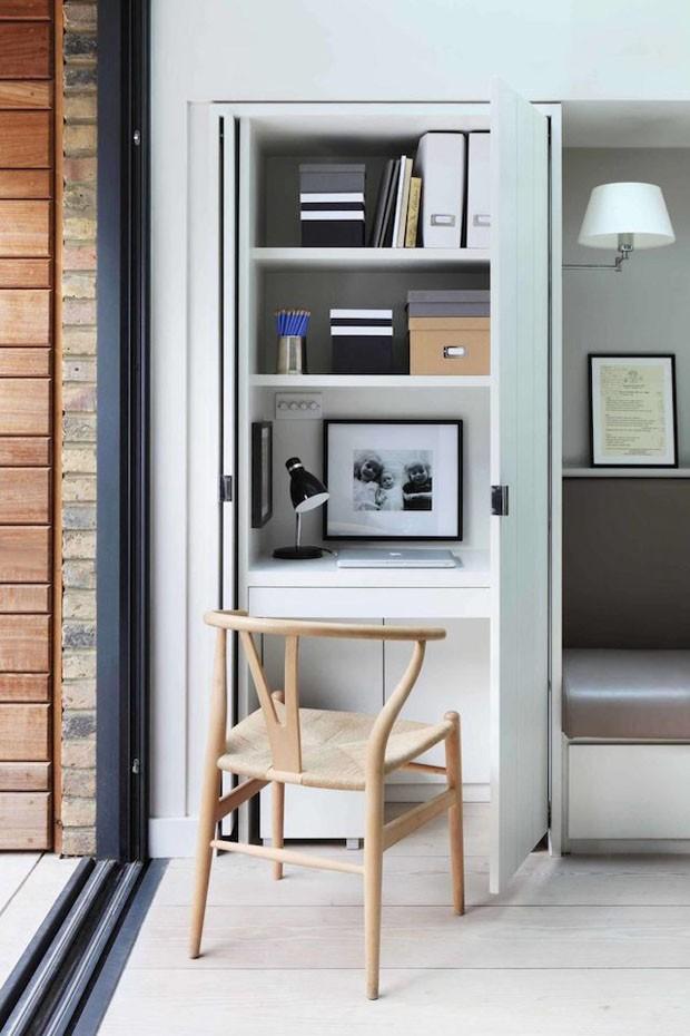 Saiba o que é cloffice e veja ideias de como ter um escritório no armário (Foto: Divulgação)