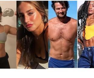 Luisa Arraes ganhou músculos para o filme 'Grande Sertão'; Bruna Griphao perdeu para 'Nos tempos do imperador', Marcelo Serrado perdeu 6kg para 'Cara e coragem' e Erika Januza perdeu o mesmo peso para 'Verdades secretas'   Reprodução/Instagram