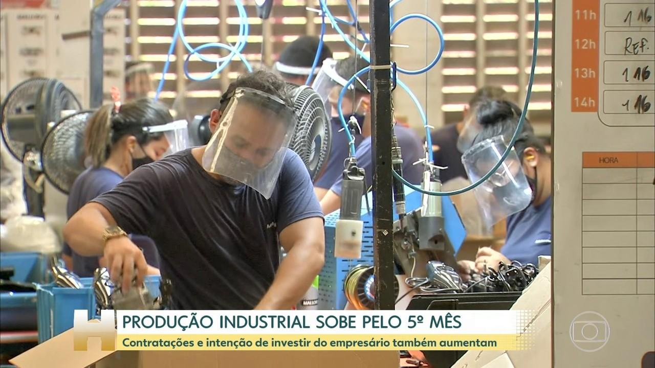 Produção industrial sobe pelo quinto mês consecutivo, segundo CNI
