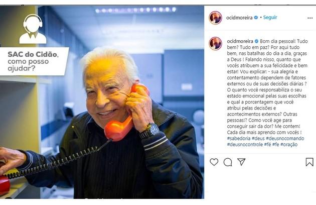Cid Moreira criou até um personagem para interagir com os fãs: Cidão. Ele tem quase 900 mil seguidores (Foto: Reprodução/Instagram)