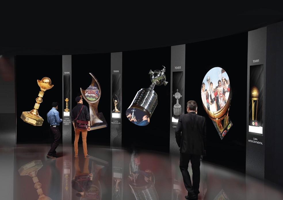 Sala de troféus no projeto de R$ 15 milhões (Foto: Divulgação)