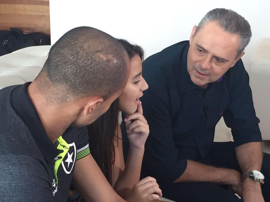 Encantado, Luis Roberto relata encontro com filha de Roger: