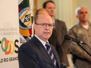 Schirmer pede voto de confiança ao assumir a secretaria de Segurança Pública (Foto: Luiz Chaves/Palácio)