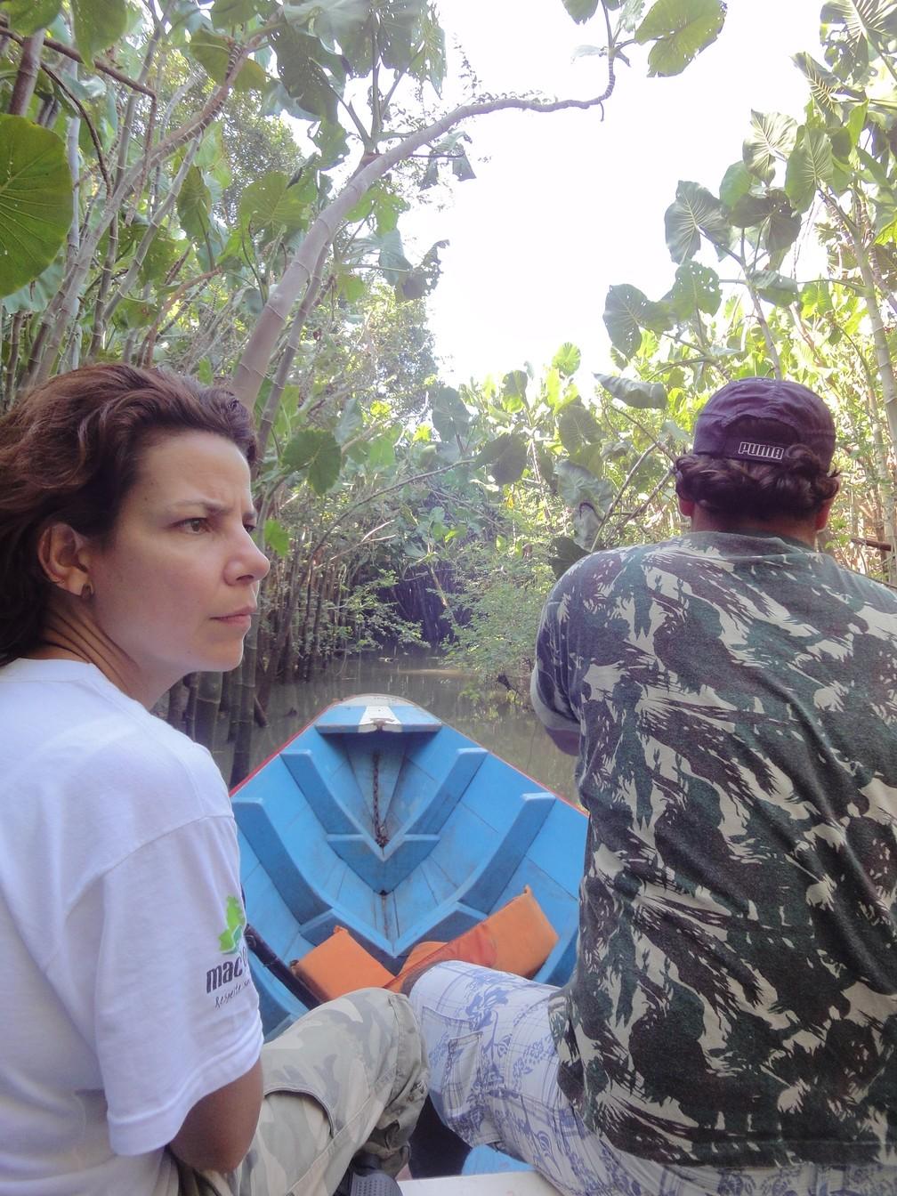 Fotos de uma das expedições da pesquisa que durou dez anos (Foto: Flávia Miranda/Arquivo Pessoal)