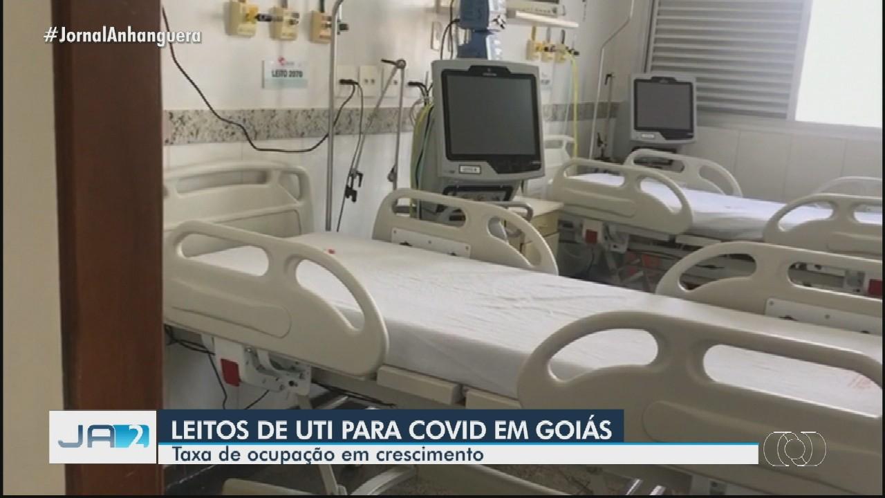 Cresce taxa de ocupação de leitos de UTI destinados para pacientes com Covid-19, em Goiás