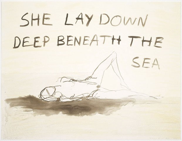 <em>She Lay Down</em>, 2011, de Tracey Emin