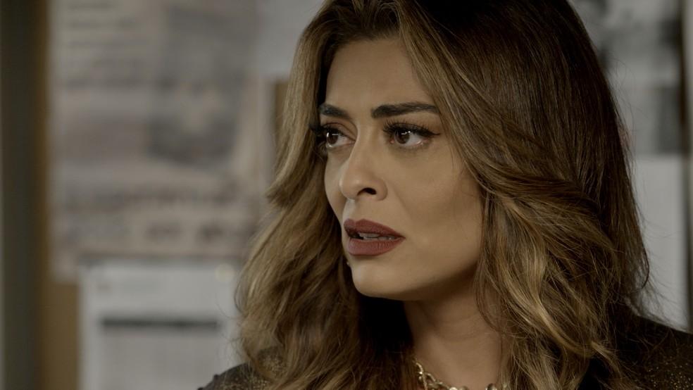 Em 'A Força do Querer', Bibi (Juliana Paes) é presa — Foto: TV Globo