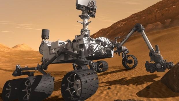 """Imagem artística de robô que pode fazer parte de missão """"Mars 2020"""" (Foto:  Nasa/Mars Exploration Program)"""