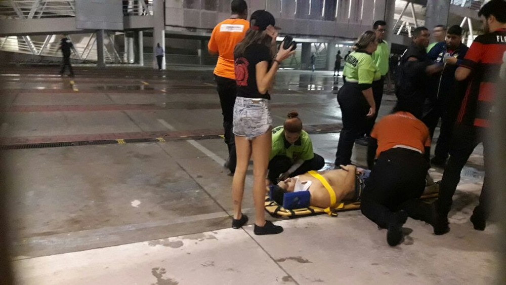 Ônibus do Fla é apedrejado, e confusões marcam pré-jogo tenso no Nilton Santos