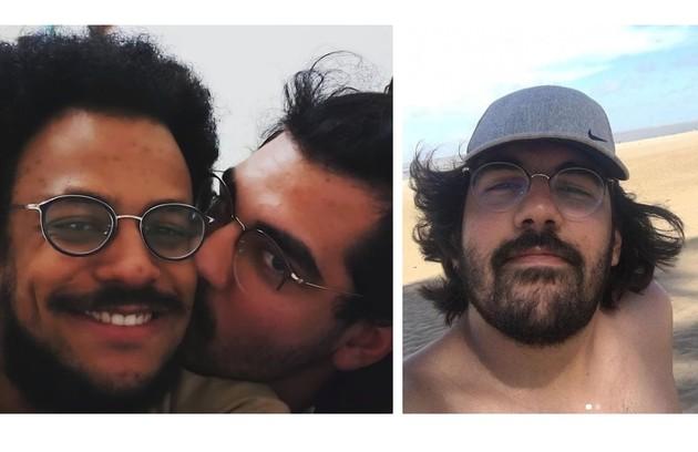 João Pedrosa está há quatro anos com Igor Moreira, que brinca no Instagram: 'Agora conhecido como namorado de famoso' (Foto: Reprodução)