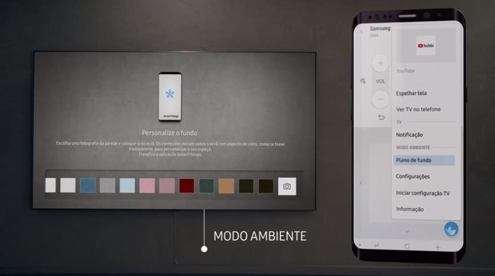Modo Ambiente é configurável pelo app SmartThings — Foto: Divulgação/Samsung