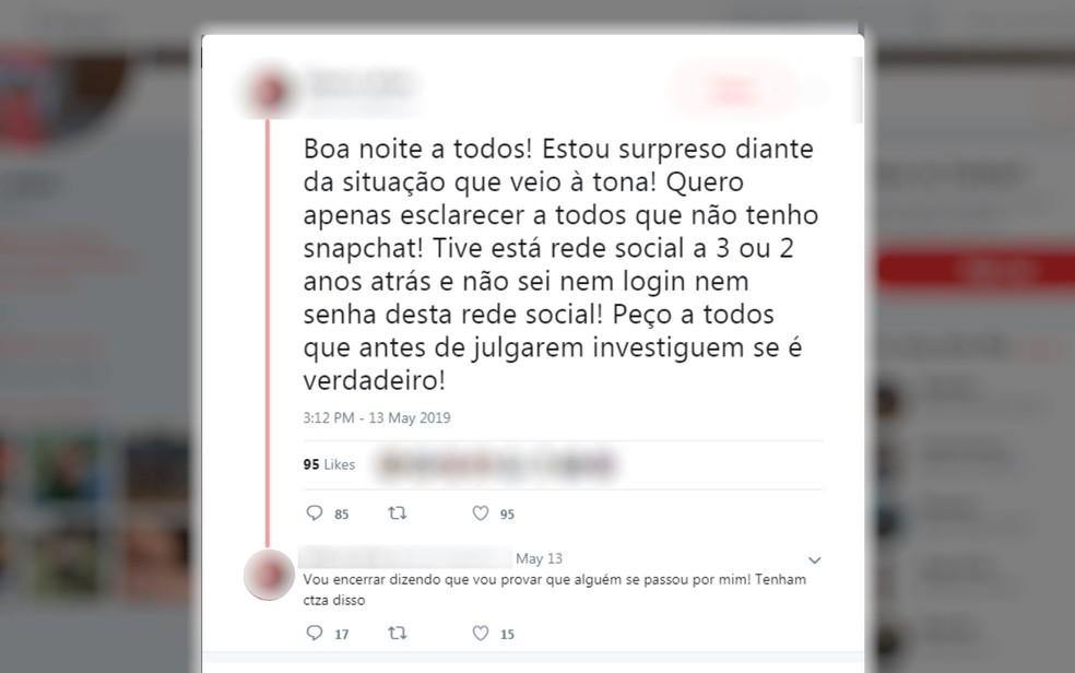 Professor nega ter cometido assédio a aluna em rede social Anápolis Goiás — Foto: Reprodução/Twitter