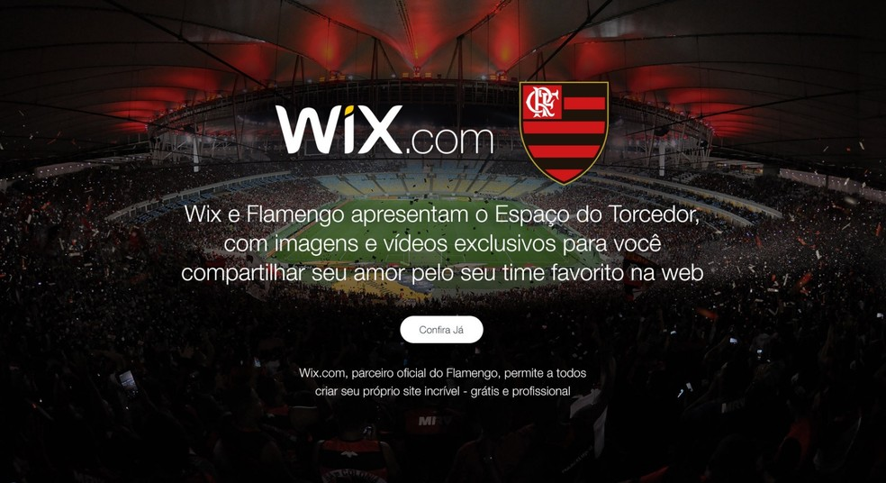 Flamengo agora tem patrocinador digital, a Wix (Foto: Reprodução)