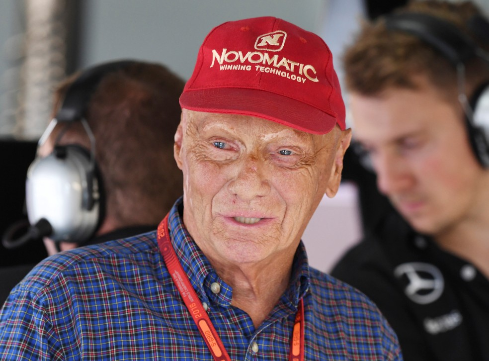 Niki Lauda em 2016 — Foto: Reuters/Uli Deck/Pool/File Photo
