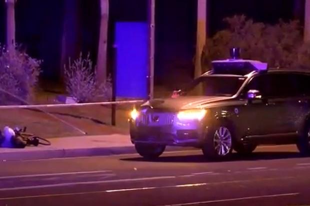 Carro autônomo da Uber atropela pedestre em Tempe, no Arizona (Estados Unidos) (Foto: Reprodução / ABC15)