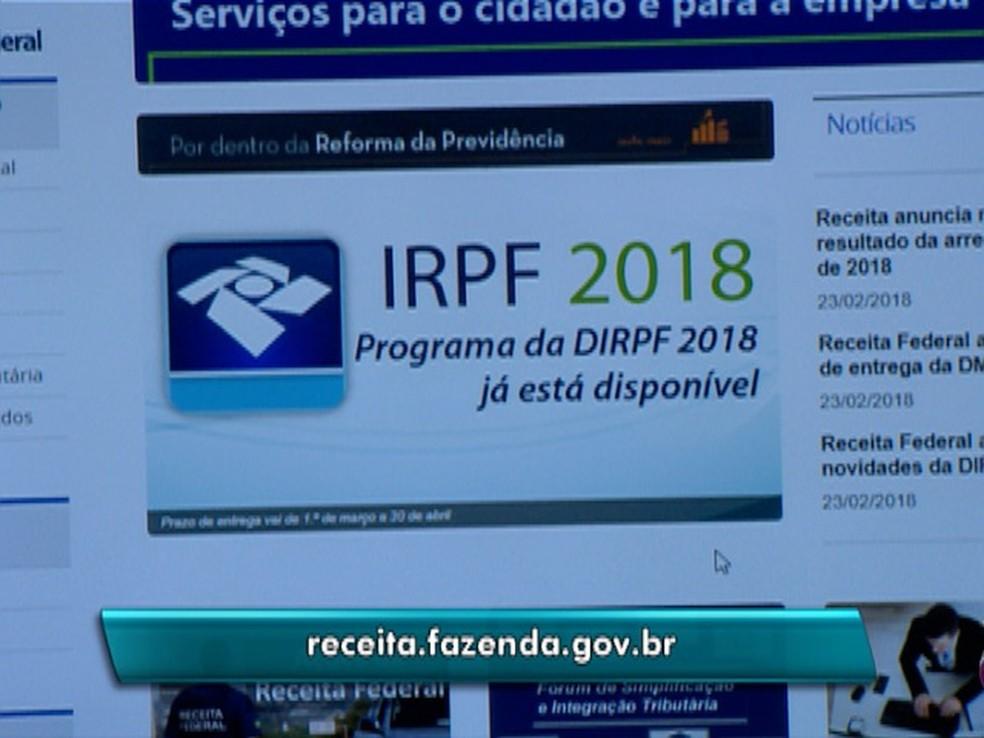 Mais de 8 mil declarações do Imposto de Renda foram recebidas no RN em 2018 (Foto: Reprodução/TV Fronteira)