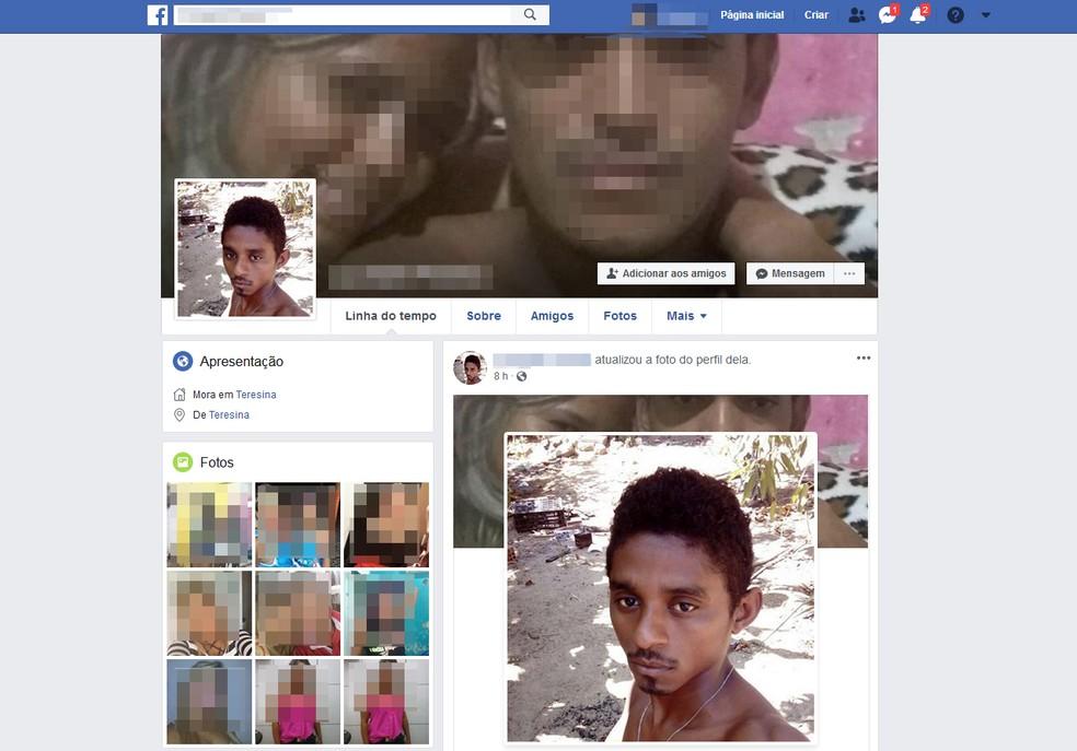 Suspeito de roubar celular postou foto no perfil da vítima no Facebook Foto: Reprodução/Facebook