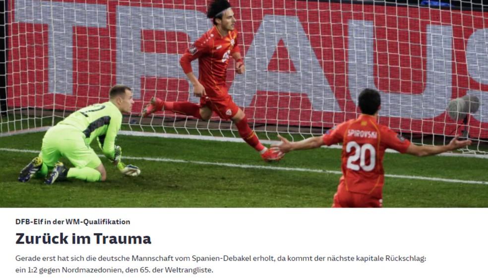 Capa Süddeutsche Zeitung - Alemanha x Macedônia — Foto: Reprodução / Internet