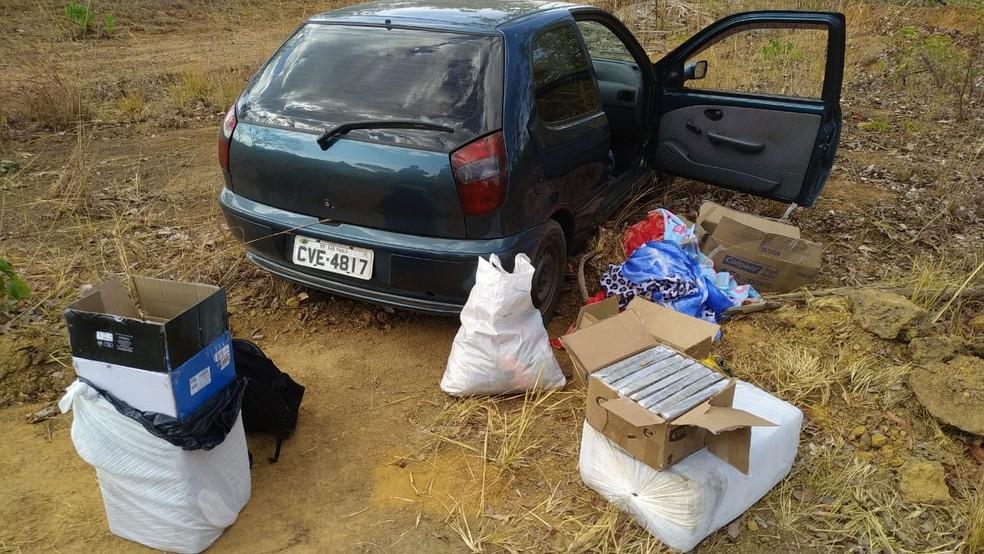 Drogas foram apreendidas na TO-010 — Foto: PM/Divulgação