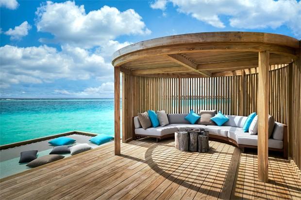 Maiara e Fernando curtem Maldivas em resort de luxo com diárias de até R$ 29 mil (Foto: Reprodução / Hard Rock Maldives)