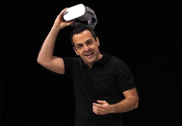 Hugo Barra em apresentação durante a conferência F8, do Facebook (Foto: Justin Sullivan/Getty Images)