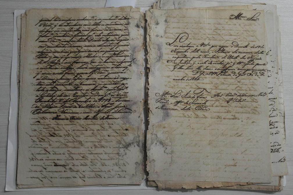 Textos dos séculos 18 e 19 são encontrados na Câmara Municipal de João Pessoa (CMJP) — Foto: Divulgação/CMJP