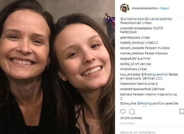 Seguidores concordam com a semelhança entre Larissa Manoela e Fernanda Rodrigues (Foto: Reprodução/Instagram)