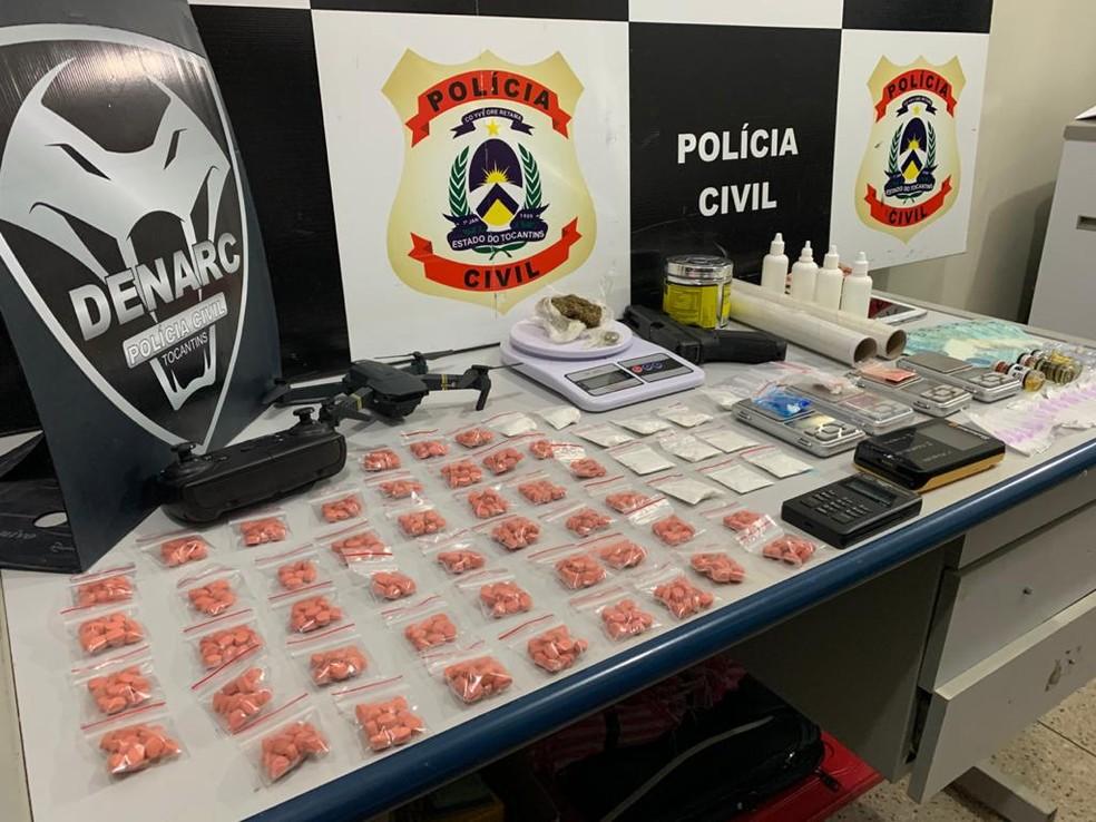 Comprimidos de ecstasy estavam  em casas de prostituição — Foto: Divulgação/Polícia Civil