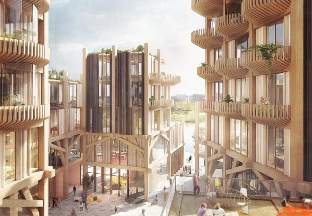 Edifícios modulares podem ganhar andares e paredes para se adaptar à demanda (Foto: Picture Plane for Heatherwick Studio/Reprodução/Sidewalk Labs)