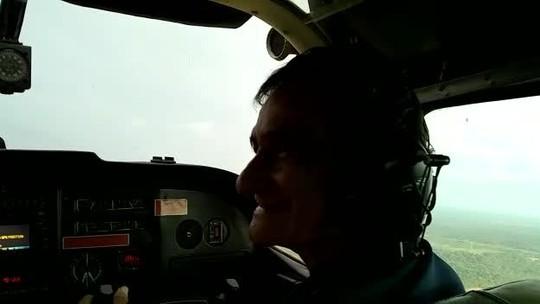 Idoso que construiu casa-avião em RO vira copiloto de Cessna por um dia: 'coração acelerado'