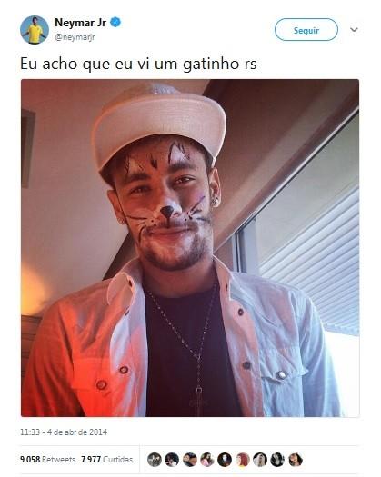 Neymar resume em um tuíte o signo de leão (Foto: Reprodução / Twitter)
