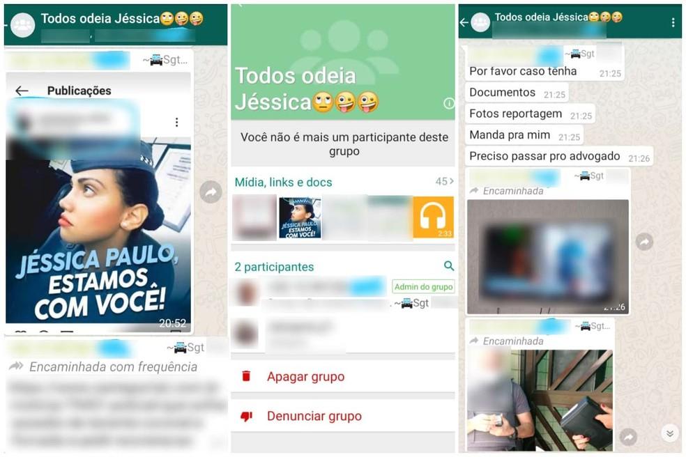 Ex-soldado recebeu denúncia de que sargento ao qual respondia quando era PM criou grupo de WhatsApp contra ela — Foto: Arquivo Pessoal