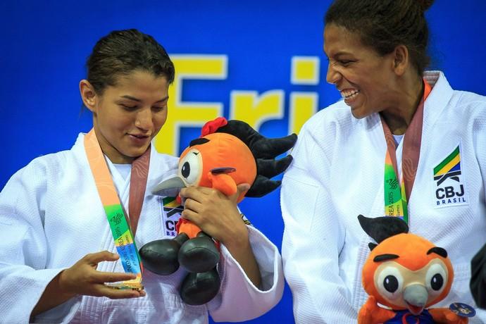 Sarah Menezes e Rafaela Silva nos Jogos Mundiais Militares (Foto: Johnson Barros/Ministério da Defesa)