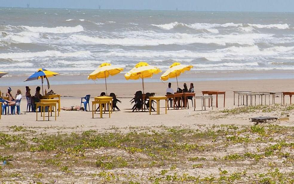 Praia em Sergipe — Foto: Marcos Rodrigues/ASN/Divulgação