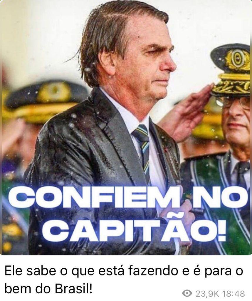 Publicação de Flávio Bolsonaro no Telegram