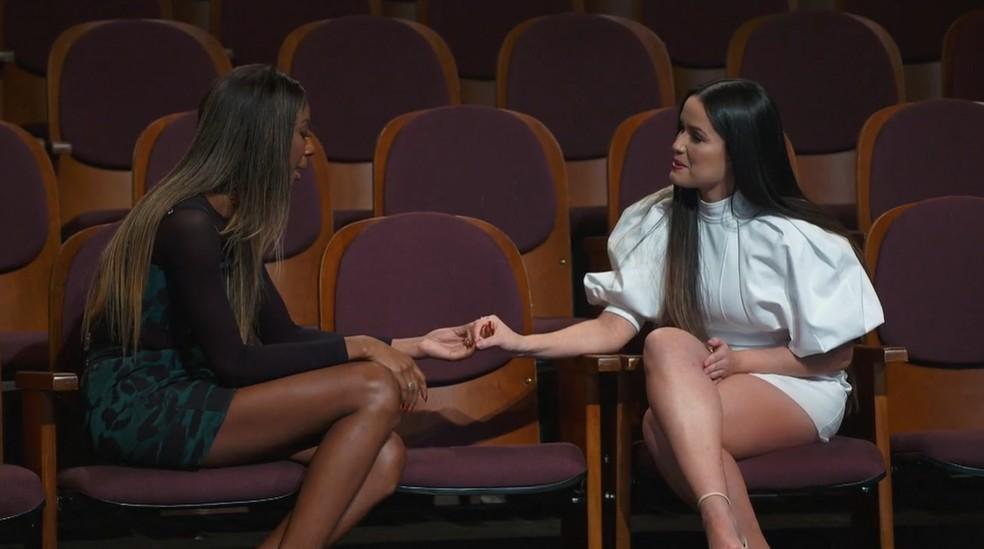 Camilla de Lucas e Juliette no quarto episódio de 'Você Nunca Esteve Sozinha - O Doc de Juliette' no Globoplay — Foto: Reprodução/Globoplay