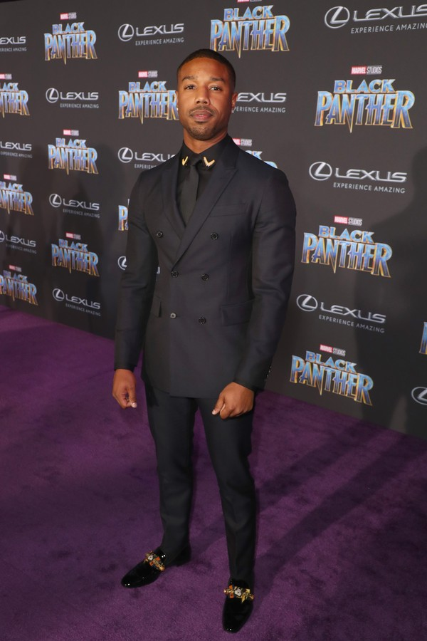 LOS ANGELES, CA - JANUARY 29:  Michael B. Jordan arrives for the World Premiere of Marvel Studios? Black Panther, presented by Lexus, at Dolby Theatre in Hollywood on January 29th.  (Photo by Joe Scarnici/Getty Images for Lexus) (Foto: Getty Images for Lexus)