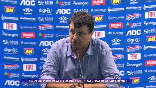 Cruzeiro perde para o Grêmio e segue na zona de rebaixamento