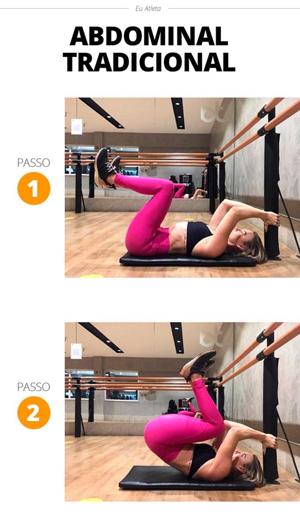 Controle o movimento para garantir a eficiência do exercício — Foto: Divulgação/Stephanie Iara Personal Trainer e Consultoria