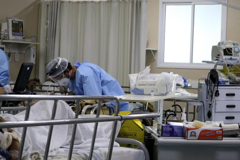 A UPA Moacyr Scliar, na zona Norte de Porto Alegre, já atendeu mais de 25 mil pacientes da Covid-19. Na terça-feira (23), atendimentos externos foram cancelados pela ocupação total de pacientes do novo coronavírus em atendimento na unidade.  Foto: Miguel Noronha/Agência Estado