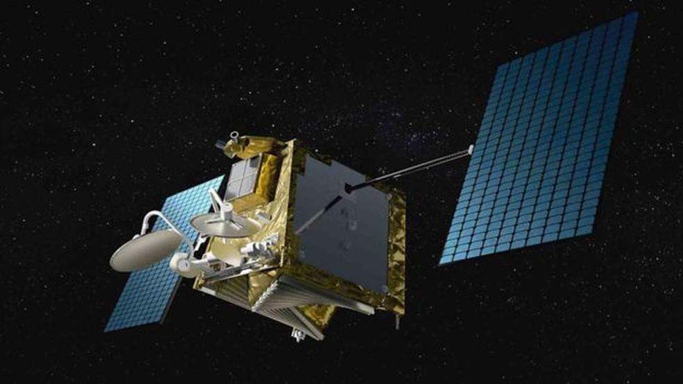 Cada satélite tem cerca de um metro de diâmetro e pesa menos de 150 kg — Foto: Oneweb