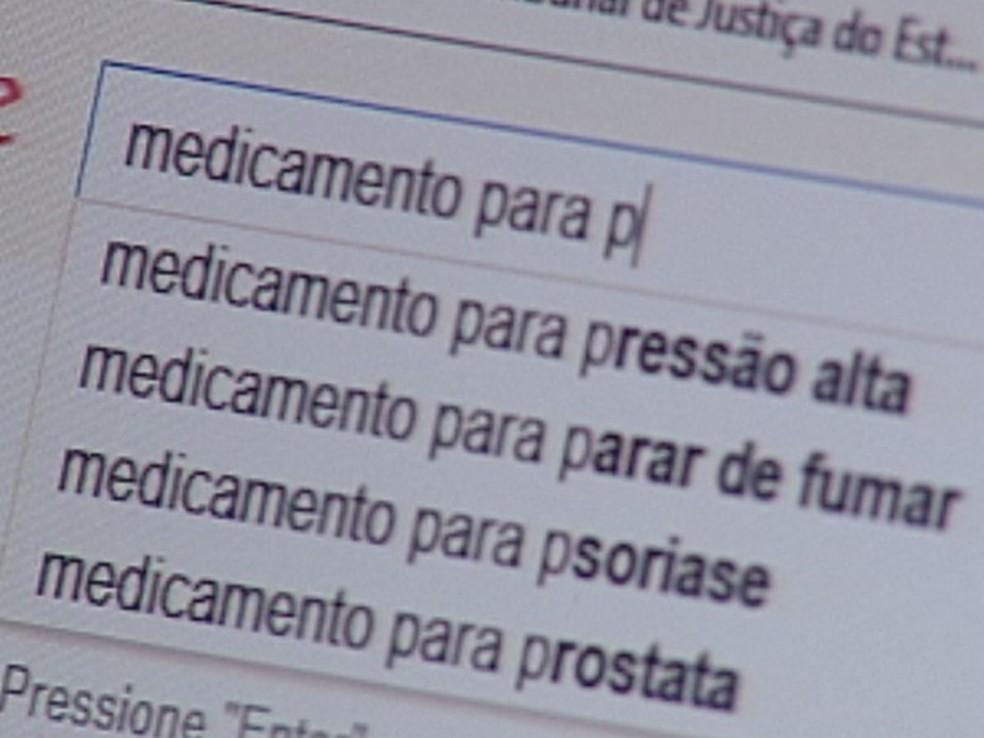 Site de busca é muito usado para automedicação (Foto: Reprodução/TV TEM)