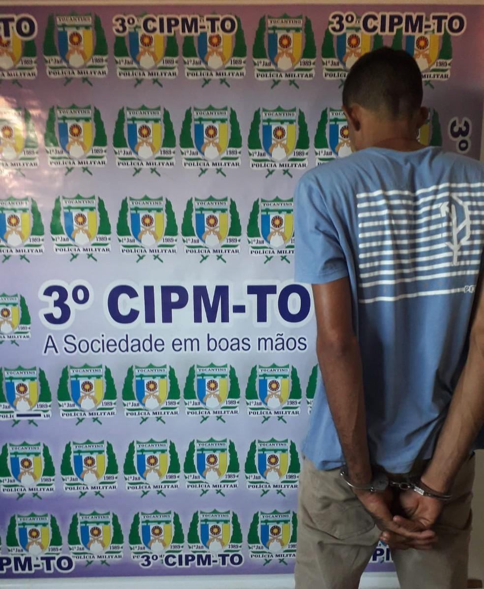 Homem foi preso após confessar o homicídio — Foto: Divulgação/Polícia Militar