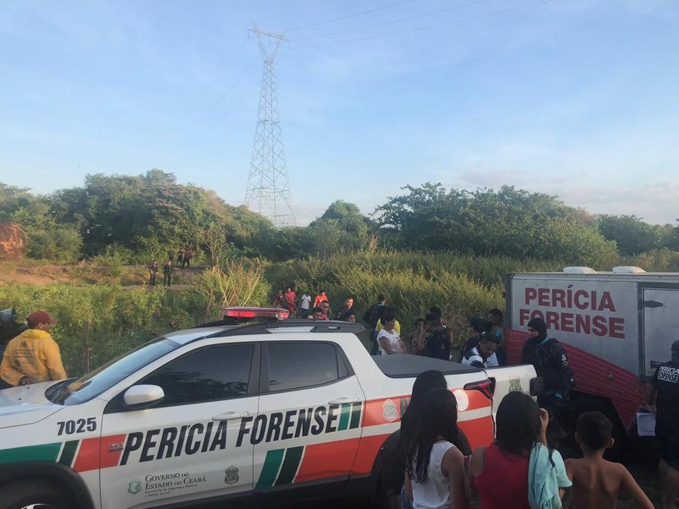 Corpo de adolescente de 12 anos desaparecido após ir pescar em rio de Sobral é encontrado. — Foto: Maristela Gláucia/ SVM